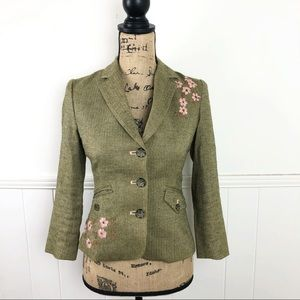 American Eagle Outfitters Brown Tweed Blazer